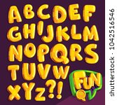 "cartoon font ""fun"". set of... 