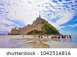 mont saint michel  brittany ... | Shutterstock . vector #1042516816