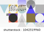 cover template with bauhaus ... | Shutterstock .eps vector #1042519960