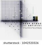 quantum computing  deep... | Shutterstock .eps vector #1042520326