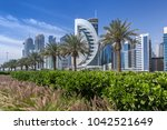 Stock photo west bay in doha qatar 1042521649