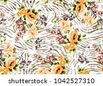 flowers pattern.for textile ... | Shutterstock . vector #1042527310