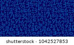 numbers background. seamless... | Shutterstock .eps vector #1042527853