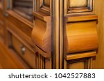 detail of a beautiful wooden...   Shutterstock . vector #1042527883