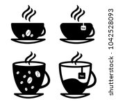 cup set vector.  solated on a... | Shutterstock .eps vector #1042528093