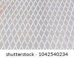 white steel mesh corrosion for...   Shutterstock . vector #1042540234