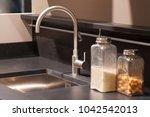 kitchen interior  sink and... | Shutterstock . vector #1042542013