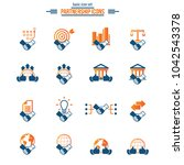 business partnership and... | Shutterstock .eps vector #1042543378