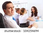 young businessmen working as a... | Shutterstock . vector #104254694