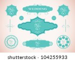 vector set of vintage framed... | Shutterstock .eps vector #104255933
