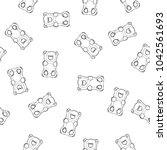 gummy bears vector seamless... | Shutterstock .eps vector #1042561693