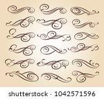 design elements.decorative... | Shutterstock .eps vector #1042571596