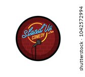 stand up comedy open mic vector ... | Shutterstock .eps vector #1042572994
