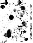abstract black ink stains on... | Shutterstock . vector #1042573204