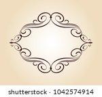 vector  retro frames .vector... | Shutterstock .eps vector #1042574914