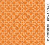 orange geometric ornament.... | Shutterstock .eps vector #1042577614