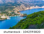 panoramic view of assos village ... | Shutterstock . vector #1042593820