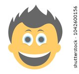 a laughing expression shown...   Shutterstock .eps vector #1042600156