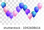 helium balloons realistic... | Shutterstock .eps vector #1042608616