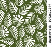 seamless pattern of tropical... | Shutterstock .eps vector #1042612399