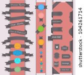 vector set design elements in... | Shutterstock .eps vector #104261714
