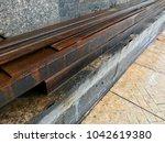 rustic metal from oxidation... | Shutterstock . vector #1042619380