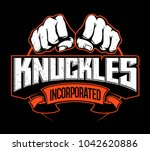 two fists  knuckles  vector... | Shutterstock .eps vector #1042620886
