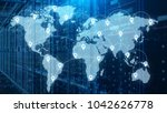 server room which connected to...   Shutterstock . vector #1042626778