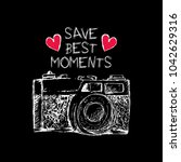 save best moments lettering and ... | Shutterstock .eps vector #1042629316