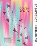 futuristic cover layout design. ... | Shutterstock .eps vector #1042629508