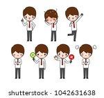 vector set of character cartoon ...   Shutterstock .eps vector #1042631638