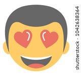 emoji representing falling in... | Shutterstock .eps vector #1042638364