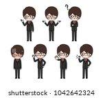 vector set of character cartoon ...   Shutterstock .eps vector #1042642324