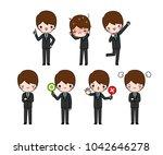vector set of character cartoon ...   Shutterstock .eps vector #1042646278