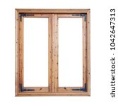 Frame Of A Wooden Window...