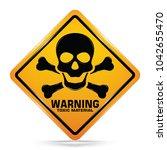 international toxic hazard... | Shutterstock .eps vector #1042655470
