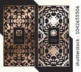 luxury cards. vector menu...   Shutterstock .eps vector #1042655506