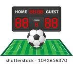 football soccer sports digital... | Shutterstock .eps vector #1042656370