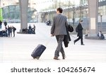 people walking against the... | Shutterstock . vector #104265674