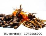 ayurvedic herb liquorice root... | Shutterstock . vector #1042666000