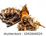 ayurvedic herb liquorice root... | Shutterstock . vector #1042666024