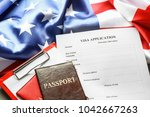 Passports  American Flag And...