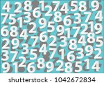 white numbers background.  ... | Shutterstock .eps vector #1042672834