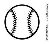 baseball ball silhouette vector ... | Shutterstock .eps vector #1042673629