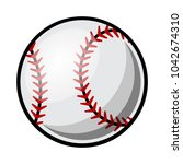 baseball ball vector... | Shutterstock .eps vector #1042674310