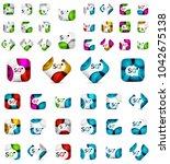mega set of square banners...   Shutterstock .eps vector #1042675138