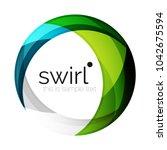 digital techno swirl circle... | Shutterstock .eps vector #1042675594