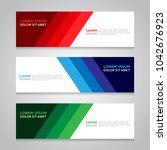 vector abstract geometric...   Shutterstock .eps vector #1042676923