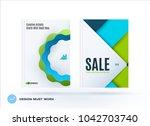 set of design brochure ... | Shutterstock .eps vector #1042703740