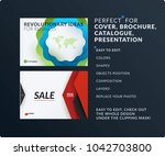 presentation. abstract vector... | Shutterstock .eps vector #1042703800